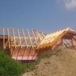 Dachstuhl für Neubau