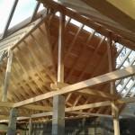 Dachstuhl für einen Pferdestall