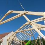 Hallenkonstruktion mit Satteldach