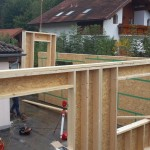 Holzriegelwand mit Innenliegender OSB-Platte (=Dampfbremse)