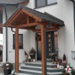 Vordach für Stufen und Eingangsbereich