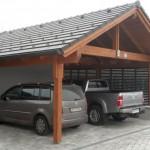 Anbau-Carport mit Satteldach