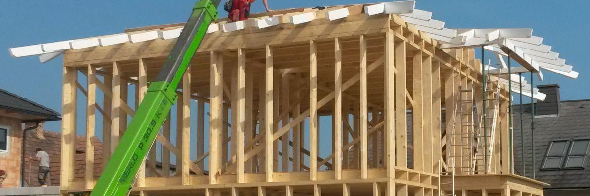 Die tragenden Teile des Holzriegelbaus