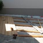 Unterkonstruktion für die Holzterrasse