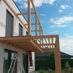 Anbau einer Holzterrasse ohne Kältebrücke
